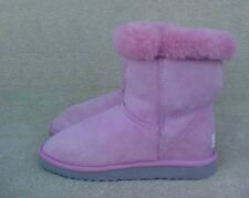 Womens Size 7 M UGG Short Classic 5825 PINK LEATHER Suede BOOTS