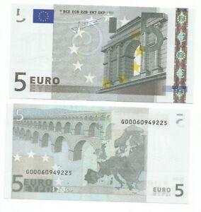 5 EURO TRICHET G CIPRO  E009... UNC G00060949... NUMERAZIONE RARISSIMA