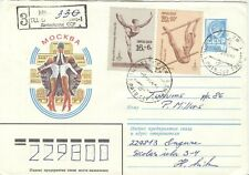 Russia Olympische Spiele Olympic Games 1980 stationery Gymnastics Olympic Buildi