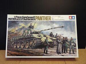 Tamiya #DT112, Panzer Kampfwagen V Panther 1/25 Scale, Motorized RARE Kit !