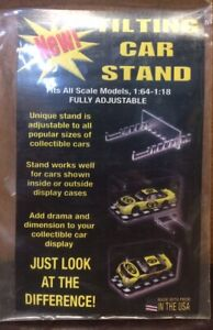Tilt Display Stands for 1:64 - 1:18 Scale Model Cars Trucks {Made in U.S.A}