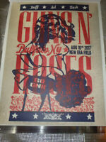 Guns N' Roses Lithograph Buffalo NY 8/16/2017 Limited 300 sheets Unused