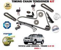 FOR TOYOTA LAND CRUISER PRADO 4.0 3956cc 2002 >NEW TIMING CHAIN TENSIONER KIT
