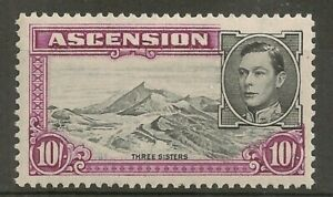 Ascension G 6 Colour shift 10 shilling pictorial definitive perf 13 un-mounted