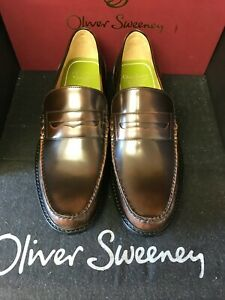 oliver sweeney, brand new CLASSIC BROWN LEATHER LOAFER, leather sole, size 10 uk