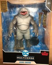 Mcfarlane DC Multiverse King Shark Gold Label Suicide Squad Bloody Mouth New