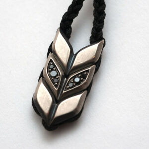 "New DAVID YURMAN Men's Chevron Woven 22-28"" Necklace Silver Black Onyx Diamond"