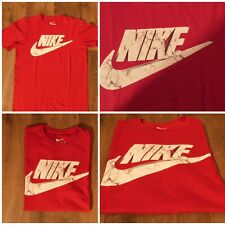 NIKE T-shirt Uomo rossa casual sportswear  tee shirt men red streetwear TG. M