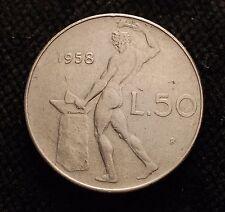 1958   Repubblica Italiana 50   lire