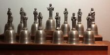 Jesus Christ and the Twelve Apostle Bells in Fine English Pewter