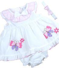 Babyprém Bebé Ropa Chicas Rosado Blanco 3 piezas Conjunto Vestir Venda Pantalone