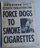 August 8 1965 National Enquirer - FORCE DOGS TO SMOKE CIGARETTES, Charles Boyer