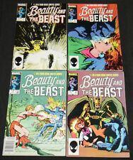 Marvel Copper Age BEAUTY & THE BEAST #1-4 - 4pc Mid Grade Comic Lot VF X-Men