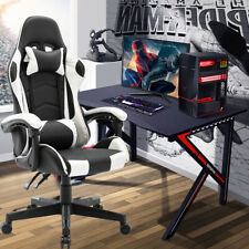 More details for swivel racing gaming chairs office executive recliner pc computer desk chair