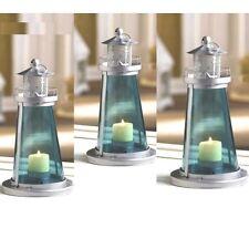 10 Blue Lighthouse Lantern Candle Holder Wedding Centerpieces