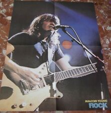AC/DC MALCOM YOUNG+ANGUS YOUNG SPANISH FOLD POSTER 1983 ROCK ESPEZIAL