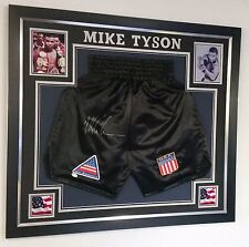 *** Rare Mike Tyson SIGNED Shorts Trunks Display ***