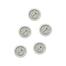 "5 PACK LIQUID FILLED PRESSURE GAUGE 0-100 PSI, 1.5"" FACE, 1/8"" NPT BACK MOUNT"