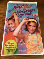 Greatest Parties VHS VCR Tape Movie Ashley &  Mary-Kate Olsen Used Clamshell