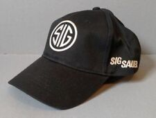 Sig Sauer Black w/ Gray Embroidery Baseball Cap Hat ~ Free Shipping ~ NEW