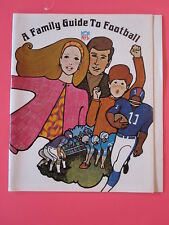 1967 A Family Guide to Football NFL from Life magazine with recipes