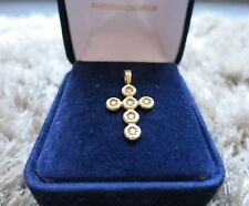 Pendentif croix or jaune et diamants / cross in 18 carat