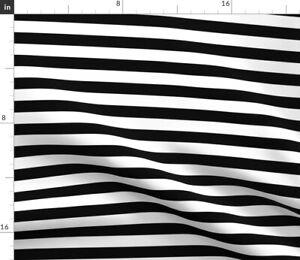 Black White Stripes Striped Modern Nursery Spoonflower Fabric by the Yard