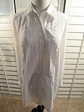 Tory Burch White Long-Sleeve DRESS Shirt Women's 4
