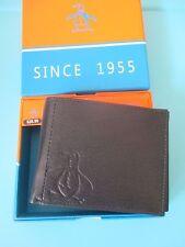 NEW Original Penguin by Munsingwear Wallet Men's ID $40 RV Black Leather LOGO