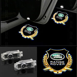 4x 3D LED Door Lights Laser Projector Logo Emblem Kit For Land Rover Range Rover