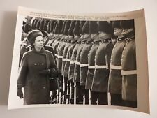 1964 Original Press Photograph Queen Elizabeth in Charlottetown PEI with Guard