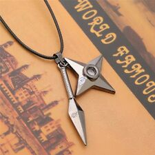 Fashion Necklace Anime Naruto Kunai Konoha Kakashi Pendant Necklace Cosplay