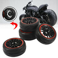 4PCS Rubber RC Racing Rubber Tires For HSP HPI 9068-6081 1/10 Car On Road Wheel