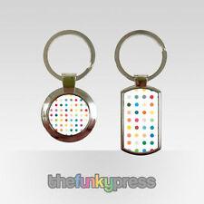Porte-clés blancs en métal pour femme