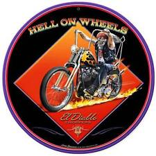 Motorcycle El Diablo Chopper Biker Metal Sign ManCave Garage Club Grossman LG490