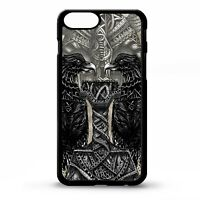 Viking Thors hammer thor thunder god crow odin pattern tattoo phone case cover