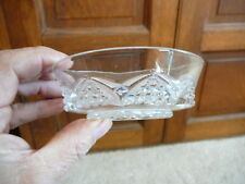 """EAPG CLEAR GLASS 4"""" SMALL BERRY BOWL - BUTTON ARCHES - DUNCAN GLASS 1897 - EX"""