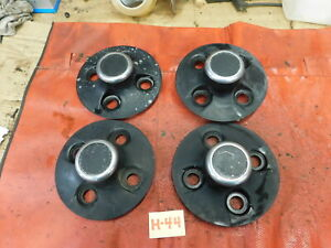 Triumph TR6, Black Hubcaps & Chrome Centers, Original, !!