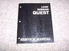 1998 Nissan Quest Van Factory Original Shop Service Repair Manual Book