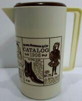 Vintag 70's Tupperware Sears Roebuck & Co. 1906 Catalog Drink Pitcher Plastic
