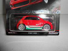 FIAT 500 EURO STYLE REAL RIDERS HOT WHEELS 1/64