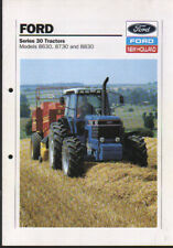 "Ford Models 8630, 8730 and 8830 ""Series 30"" Tractor Brochure Leaflet"