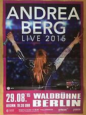ANDREA BERG 2015 BERLIN - orig.Concert Poster - Konzert Plakat A1  NEW