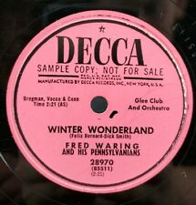 """Fred Waring 10"""" Record By Decca SAMPLE COPY 78RPM"""
