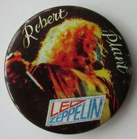 LED ZEPPELIN ROBERT PLANT LARGE VINTAGE METAL PIN BADGE FROM THE 1970's