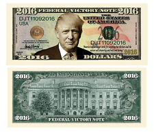 100 Donald Trump President Money Fake Dollar Bills 2016 Federal Victory Note Lot