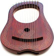 New DEURA SDC Lyre Harp 10 Strings with Tuning Key and Carrying Bag DLH-10