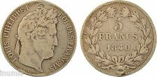 Louis-Philippe Ier, 5 francs IIe type Domard, Strasbourg, 1840, argent - 48