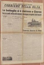 CORRIERE DELLA SERA 17 18 MARZO 1941 DISCORSO HITLER MESSICO SAN SIRO ATALANTA