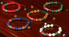 TIBETAN BON FIVE ELEMENT HEALING POWER BEADS BRACELETS